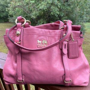 Pink Coach Satchel Bag